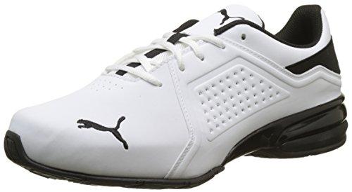 PUMA Męskie buty sportowe Viz Runner, Biała Puma White Puma Black, 44 EU