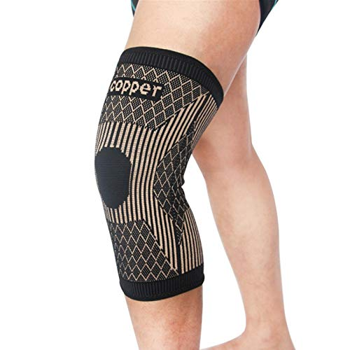 POHOVE Kupfer-Kniebandagen aus Kupfer, Kompressionsmanschette für Arthritis, Schmerzen, schützende Kupfer-Kniebandage für Sport, Training, Arthritislinderung