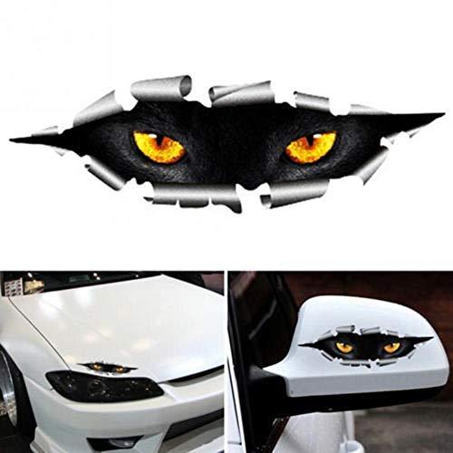 TXIN 2 Stücke 3D Kreative Aufkleber von Spähend Katzen Auge für Auto Wasserdichte Dauerhaft Vinyl Abziehbilder Häute für Motorräder Fenster Wand