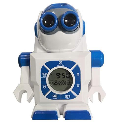 Reloj Despertador Digital,Despertador Proyector con Puerto USB,Despertador con Pantalla LED,Función Snooze