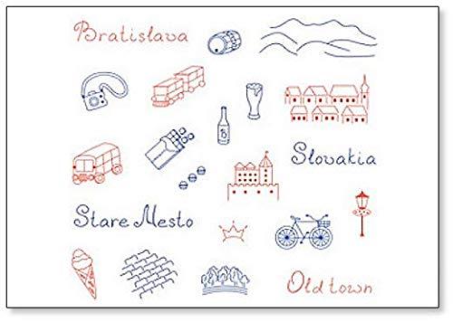 Kühlschrankmagnet, Motiv: Europa/slowakische Illustration