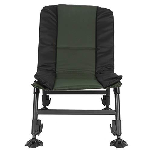 EBTOOLS Angelstuhl, Einstellbar Karpfenstuhl Campingstuhl Camping Sessel Freizeitstuhl mit rutschfeste Sicherheitsfußpolster, Einstellwinkel: 0-105 °, Tragfähigkeit 150 kg