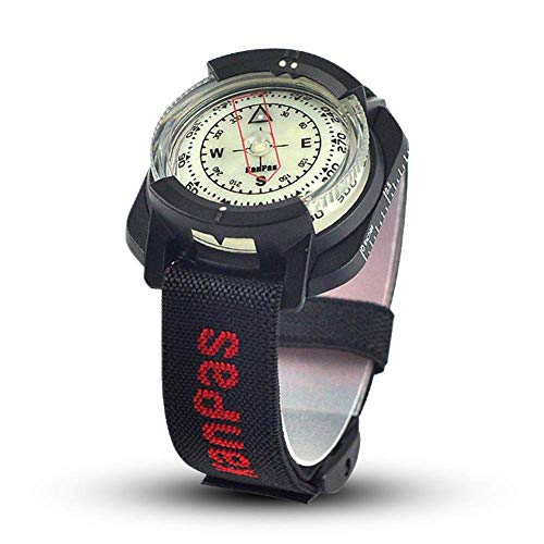 SDTLE Brújula al Aire Libre Brújula de Buceo Profesional 60 M / 197 pies Reloj Impermeable de navegación Reloj Digital Brújula de Buceo para natación, R