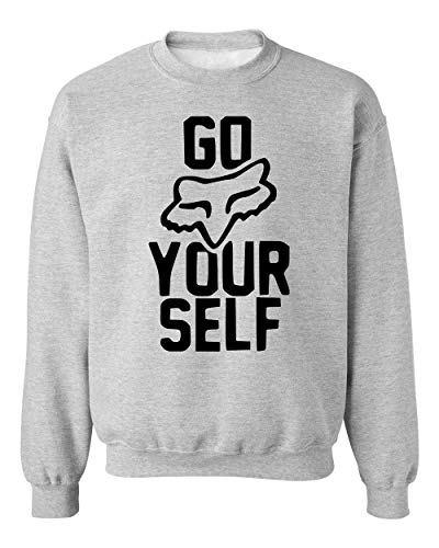 Go Fox Yourself Unisex Sweatshirt Sweater Jumper Large