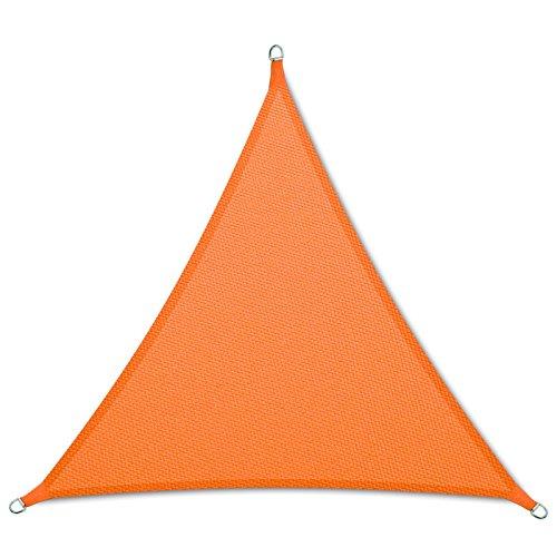 casa pura Voile d'ombrage Triangulaire en Coloris Divers | matière imperméable - Lavable en Machine | Taille 5x5x5m | densité 160g par m² | Orange
