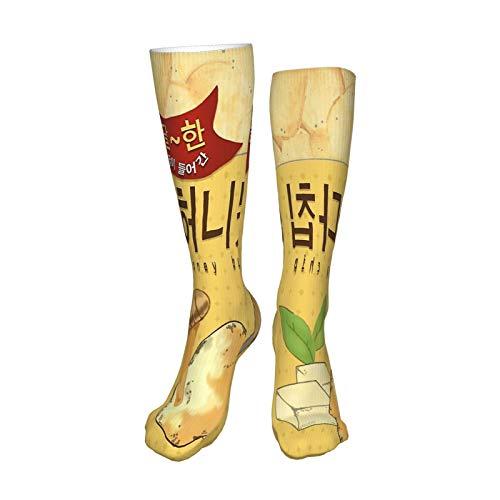 Mystic Messenger Honey Buddha Chip Men Women Knee High Socks Novelty Long Stockings