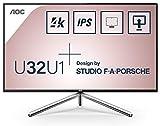 AOC U32U1 monitor piatto per PC 80 cm (31.5') 4K Ultra HD LED Nero, Argento