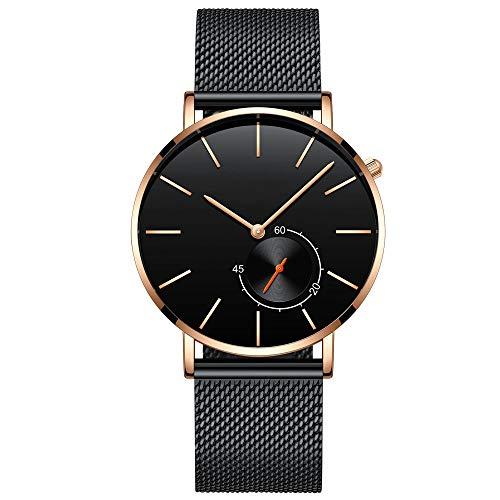 Voigoo Uhr for Männer Top-Marke Lässige Rose Gold Quarzherrenuhr Edelstahl Gesicht ultradünne Uhr männlich Relogio New