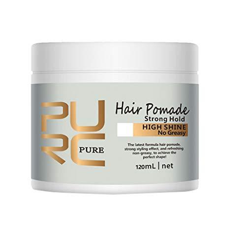 Vaycally Pomada para el cabello, Pomada para el cabello Pomada restauradora de estilo fuerte, fijación regular A base de agua Acabado mate de lujo Cera para el cabello Pro Salon Use Cera para el cabe