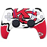 Skinit Decal Gaming Skin Compatible with PS5/PS5 Digital Edition DualSense Controller - Officially Licensed NFL Kansas City Chiefs Large Logo Design