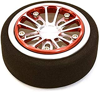 Integy RC Model Hop-ups C26896REDSILVER Billet Aluminum T2 Steering Wheel for Futaba 3PV 4PL S 4PV 4PX 4PX R 7PX Radios