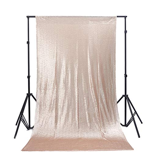 TRLYC 4Ft7Ft Champagne Sequin Wedding Backdrop Sparkly Photography Backdrop Wedding