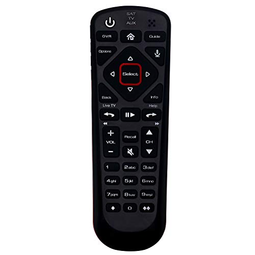 Replacement Network 54.0 Voice Command Remote Control Suitable for Dish Hopper Family of DVRs with SAT TV AUX 3 Modes (no Backlight)