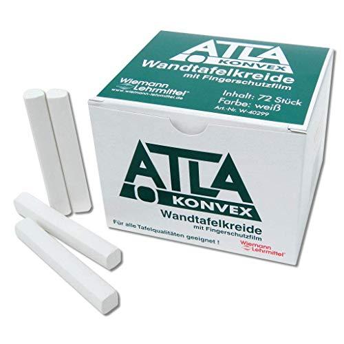 ATLA-Kreide, Tafelkreide weiß, 72 Stück, konvex   Wiemann Lehrmittel