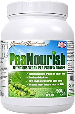 Pea Protein Plus phyto-nutrients - 500g tub from Specialist Supplements Ltd.