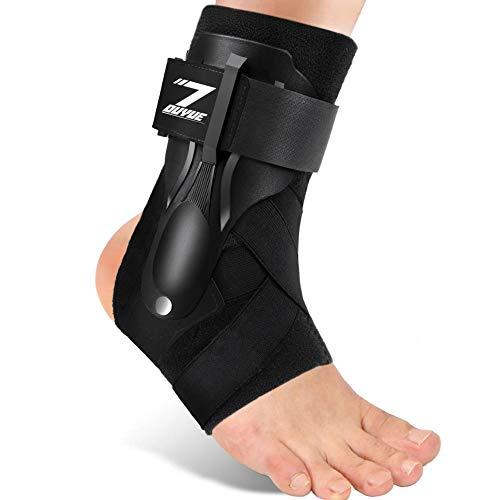 Ankle Support, Ankle Brace for Men & Women, Ankle Support Brace for Ankle Sprains, Sprained Ankle, Ankle Braces, Volleyball, Basketball, Ankle Supports for Women-L