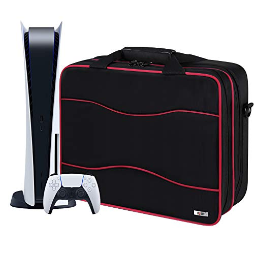 BUBM PS5 Carrying Case,Travel Bag for Controllers,Headsets, Game discs, Cables,Charger and...