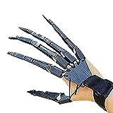 Funmix Dedos Articulados de Halloween, Manos de Esqueleto de Halloween Usable Cosplay Garras Extender Guantes Articulados con Junta Flexible, Extensiones de Dedos de Cráneo Garra Guantes Disfraz