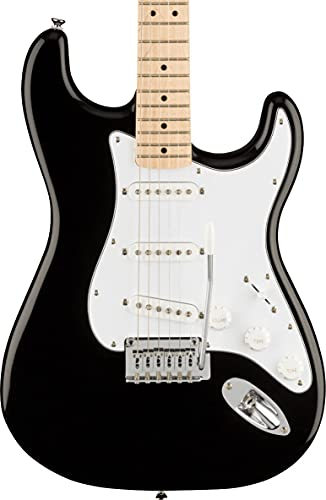 Fender 6 String Solid-Body Electric Guitar, Right, Black (0378002506)