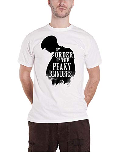 Peaky Blinders T Shirt by Order Shadow Logo New Official Mens White,XXL