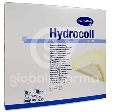 LABORATORIOS HARTMANN, S.A HYDROCOLL Thin 15X15CM 3 UDS, Negro, Estándar