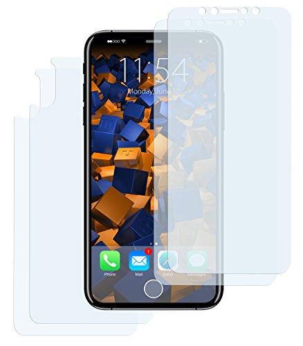 mumbi Schutzfolie kompatibel mit Apple iPhone X Folie klar, Displayschutzfolie (4x)
