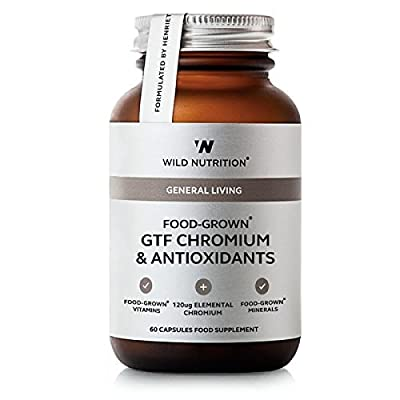 Wild Nutrition Food-Grown GTF Chromium & Antioxidants Vegicaps 60 from Wild Nutrition