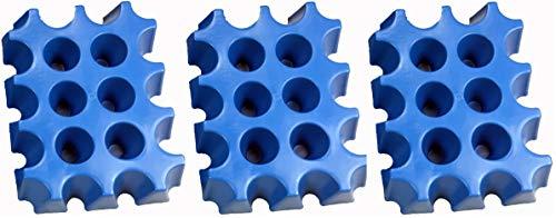 3 (Stück) x sl-EISBLOCK 0,5 Liter # Made in Germany # bis der Grill heiß ist - sind die Biere kühl # Bierkühler # Bierkastenkühler # Bier Kühler für Kiste Kasten # Bierkiste Bierkasten Bierkisten (blau)