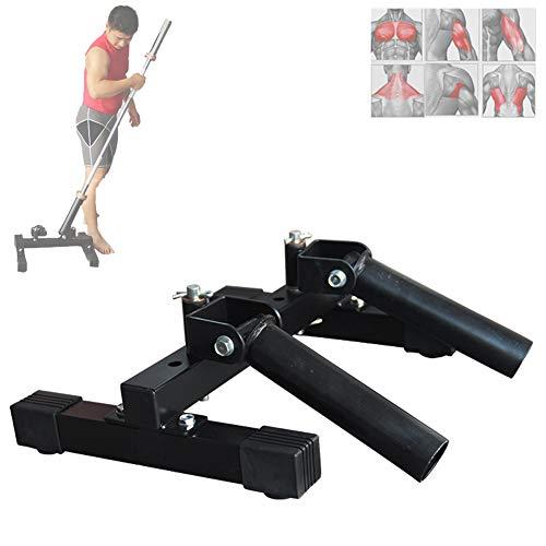 Grist CC Schwarz T-Bar Ruder Plattform, Aerobic Core Trainer Langhanteltrainer Für 5.1Cm (2 In) Hantelstangen