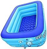 JQAM Piscina para niños Piscina Inflable Rectangular Piscina para niños Piscinas de Agua para...