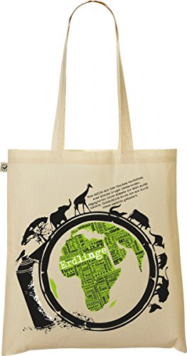 My-tagshirt – Organic Shopper Bag – Earth – 100% bio – Commercio Equo E Solidale