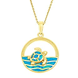 Turtle Swimming Necklace
