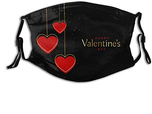 Valentine's Day Printed Face Mask, Decorative|Adjustable, for Men and Women Balaclava Bandana-Valentine's Day-1 PCS
