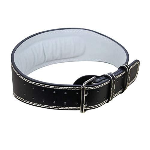 ABOOFAN Cinturón de Piel de Vaca de 125 cm Cinturón de Levantamiento de Pesas Cinturón de Entrenamiento de Potencia Soporte de Espalda Gimnasio Culturismo para Hombres Mujeres ()