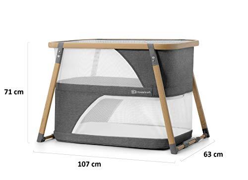 Kinderkraft Kinderreisebett SOFI 4 in 1 Babybetten Kinderbett Baby Zustellbett Reisebett mit Zubehör mit Laufgitterfunktion modernes Design kleine Abmessungen nach Zusammenklappe - 12