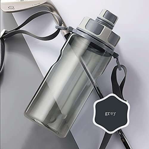 Bottiglia di acqua bottiglia di grande capacità 20oz/36oz PC+PP Food Grade bottiglia di acqua per palestra e sport all'aria aperta bottiglia d'acqua sport (colore: grigio, dimensioni: 800ML)