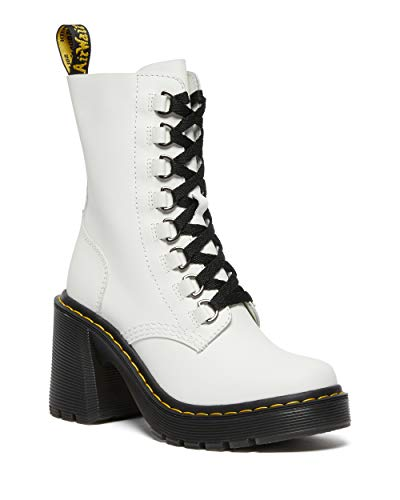 Dr. Martens Women's Lace Fashion Boot, White Sendal, 10