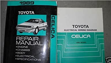 1989 Toyota Celica Service Shop Repair Manual Set Oem (service manual,and the electrical wiring diagrams)