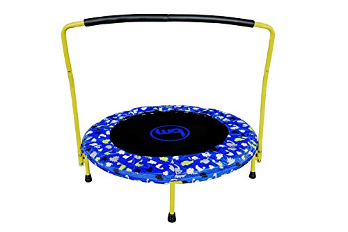 Bounce Master 36'' Fitness Mini Jumper Trampoline with Handlebar for Kids & Toddlers, Blue, Green, Black, Yellow, White, Grey