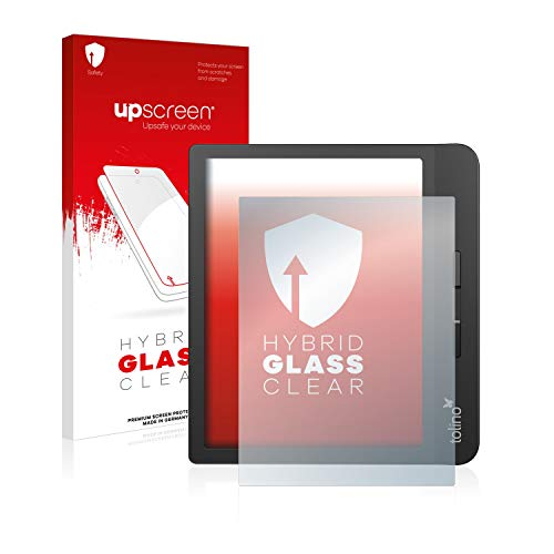 upscreen Hybrid Glass Panzerglas Schutzfolie kompatibel mit Tolino Vision 5 9H Panzerglas-Folie
