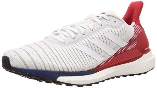 adidas Solar Glide 19 M, Zapatillas de Running para Hombre, FTWR White/FTWR White/Scarlet, 42.67 EU