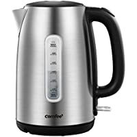 Comfee' 1.7-Liter 1500W Stainless Steel Cordless Electric Kettle