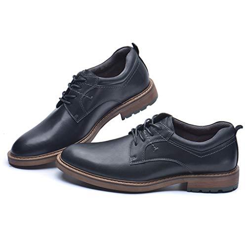 YU-S De cuero para hombre de negocios con cordones de los zapatos...