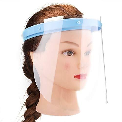 QJWLZ 3pcs verstelbaar tandheelkundig gezichtsmasker Professioneel tandheelkundig beschermend gelaatsscherm verwijderbaar blauw frame voor thuis en in de kliniek