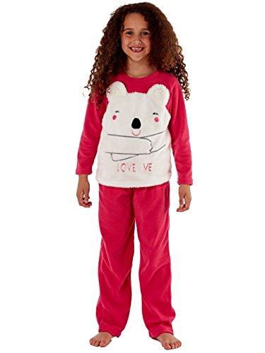 Selena Girl Pigiama in Pile con Design Gufo per Bambini