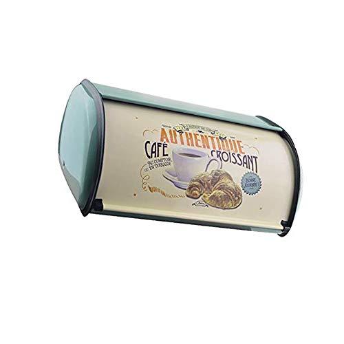 Dongbin Metall Brotkasten Bin Küche Lagerbehälter Home Küche Mit Roll Top Deckel- Aufbewahrungsbox,Blau
