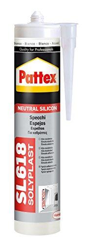 Pattex SL 618, silicona neutra para espejos y sellado en general, blanco 300ml
