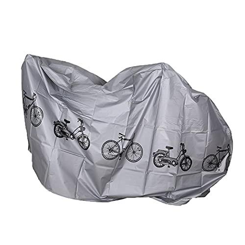 Yajun Cubierta Impermeable para Motocicleta Funda para Bicicleta Portátil Protectora para Lluvia Interior al Aire Libre Abrigo para Bike Scooter Gris