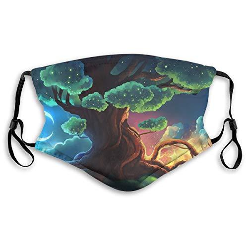 HSJSS Baum Mund-Muffel Unisex Face Covers Waschbare Staubschutzhülle Comfortable Reusable Outdoor Außenbereich M