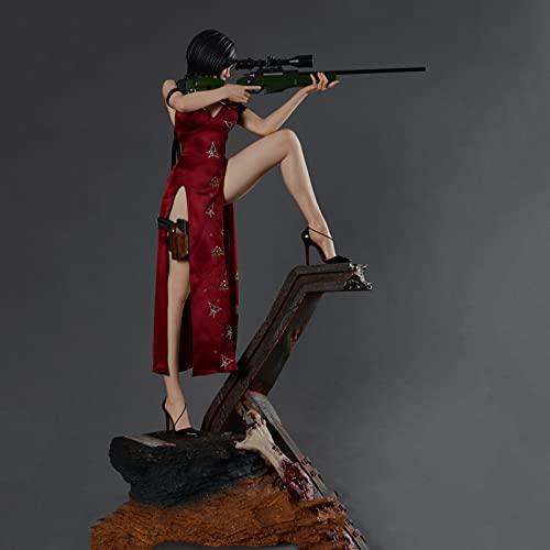 ZH 1/4 Resident Evil Figuras De Acción, 55Cm Ada Wong Anime Modelo De Juguete, Coleccionables Estatua, Materiales De Resina Adornos Decorativos Regalos De Cumpleaños para Fans Y Amigos